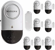 8er Set MAEKIJOY Tür Fenster Alarm Einbruchschutz