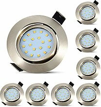 8er Ultra Flach LED Einbaustrahler Einbauspots