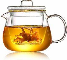 8T8 Modern Klar Glas Teekanne mit-Ei &