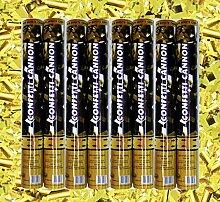 8x Konfettibombe Konfettiregen Konfettishooter Streifen gold metallic Silvester Party Weihnachten Hochzeit Jahreswechsel Feiern