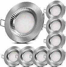 8x LED Badeinbauleuchten 230V 5W IP54 LED