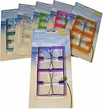 8x Tischdeckenklammern Tischtuchhalter Tischtuchklammer Klammer Tischdecke Halter lila