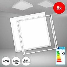 8x Xtend LED Panel 62x62 Tageslichtweiß Kaltweiß