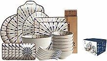 9-25Pcs Porzellan Tafelservice Set - Kreative Mode