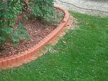 9,3 Meter Gartenpalisade Beetumrandung terracotta