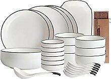 9-36Pcs Porzellan Tafelservice Set -Kreative Mode