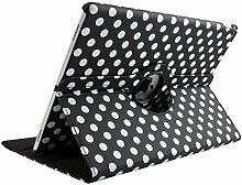 9,7 Zoll iPad Air 1 Schutzhülle, TechCode 360 Grad Rotation Ständer PU Leder Tasche Schutzhülle Folio Weiche Gummi Hülle für Apple iPad air 1 Generation 9.7''(iPad air, Schwarz)