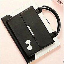 9,7 zoll iPad air 2 Schutzhülle, TechCode Portable Handtasche Stand Case PU Leder Tasche mit Griff Tasche Tasche Etui Schutzhülle für Apple iPad air 2 9,7 Inch (iPad air 2, Schwarz)