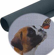 9,90€/m² Fliegengitter Netz Meterware als Ersatzteil Zubehör - Fiberglas Plissee Gaze Gewebe Draht Insektenschutz u. Fliegenfenster als Rolle Schwarz Grau Petscreen für Katze Hund Reißfest Insektenschutznetz Fliegennetz