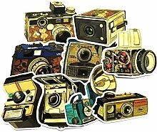 9 Blatt/Tasche Kamera Aufkleber Retro Koffer