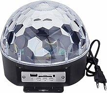 9-Farbe Wechselnden Musik Voice Control LED Crystal Ball Dekoration Bühne Lampe für Xmas Party Pub Outdoor-Aktivität mit Fernbedienung