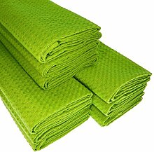 9 hellgrüne Geschirrtücher aus 100% Baumwolle /