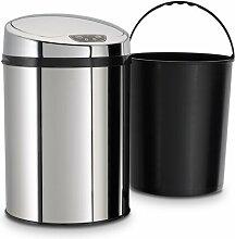 9 L Bewegungsmelder Mülleimer aus Edelstahl