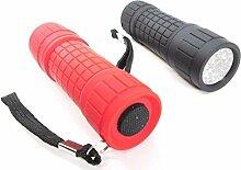 9LED schwarz & rot Taschenlampen Taschenlampe Camping Beleuchtung Lampe Werkzeuge Set von 281339C