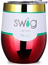 9 oz Weinbecher,Doppelte vakuum isoliert weinglas