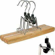 9 Stk. DIES&DAS Designer Qualitäts Hosenspanner aus Holz mit Filzeinlage rutschfest 26 cm mit 360 Grad drehbaren Haken aus Lotusholz Hosenbügel Hosenklammer Hosenspannbügel Spannbügel Kleiderbügel Kleiderspanner Klammerbügel Hosenhalter Hosenklemmbügel Klemm Bügel in einem sehr schönen Design