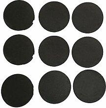 9 Stück schwarze STECKEL Staubschutz Deckel