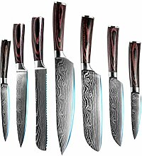 9 stücke Damaskus Muster Küchenmesser Set