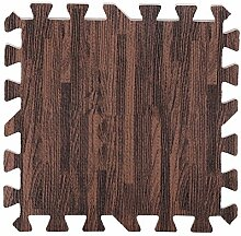 9 Teile 30x 30cm Puzzle-Teppich aus EVA-Schaumstoff Holzstruktur in drei Farben Brown Random