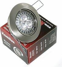 9 x High Power LED Einbauleuchte Strahler Jenny Farbe edelstahl-gebürstet 230V 5 Watt in Tageslichtweiss