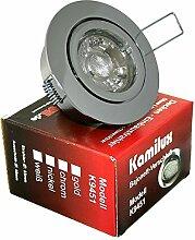 9 x Power LED Einbaustrahler Bajo 230V 5Watt in