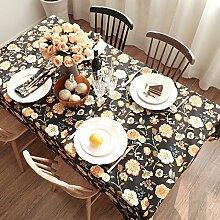 90* 130cm beige floral europäischen French Instagram Tisch Tuch Baumwolle Leinen Esstisch Garten Picknick quadratisch, rechteckig Umweltfreundlich,