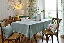 90* 130cm hellblau massives Skandinavisches minimalistisch Instagram Esstisch Tuch Baumwolle Leinen Garten Picknick quadratisch, rechteckig Umweltfreundlich,