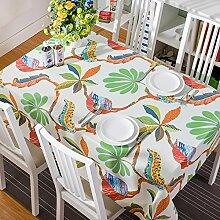 90* 140Grün Leaf Cottage Instagram Tisch Tuch Baumwolle Leinen Esstisch Garten Picknick quadratisch, rechteckig Umweltfreundlich,