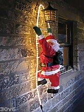 90 cm, SANTA CLAUS Kletterspaß auf Licht Outdoor Strickleiter, Weihnachtsdekoration