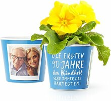90.Geburtstag Geschenk - Blumentopf (ø16cm) |