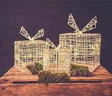 90 Led Geschenkbox 3er Set Acryl