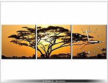 90 x 30 cm - Afrika - Uhr Wand Tisch modern -