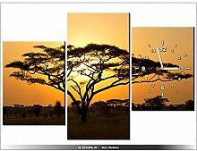 90 x 60cm - Afrika - Uhr Wand Tisch modern - Dekoration - neues DESIGN