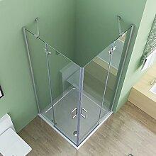 90 x 75 cm Duschkabine Eckeinstieg Dusche Doppel