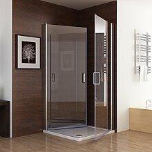 90 x 80 cm Duschkabine Dusche Duschwand 180°