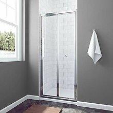 90cm Duschwand Duschabtrennung faltbar Falttür