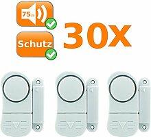 90er Set Mini Alarmanlagen, sichert Fenster und Türen, Alarmauslösung durch Magnetkontakt, kabellos