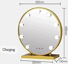 90GJ LED Beleuchteter Kosmetikspiegel - Goldgelb