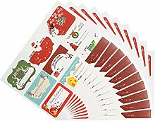 90pcs Christmas Stickers DIY Weihnachts