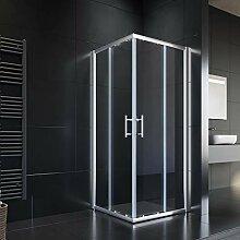 90x80cm Eckeinstieg Duschkabine Sicherheitsglas
