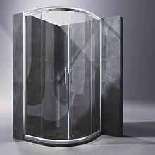 90x90cm Duschkabine viertelkreis Schiebetür NANO
