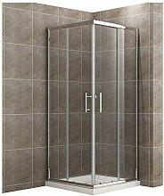 90x90cm Eckeinstieg Duschkabine mit Duschtasse