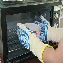 932° Ultra Extreme Hitze Grill Handschuhe für Raucher, Backofen & Outdoor Grill - Kevlar Nomex Bau (Large - Extra Large, Blau)