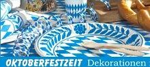 94-teiliges Oktoberfest Partyset Bayrisch Blau
