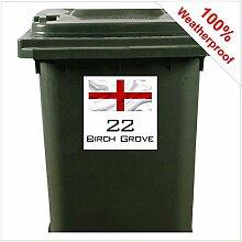 9412 Aufkleber für Mülltonnen, Motiv: England