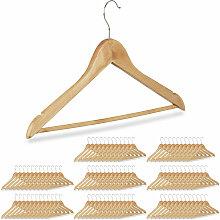 96 x Kleiderbügel, Hosenbügel aus Holz,