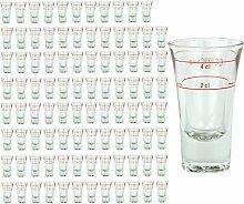 96er Set Schnapsglas DUBLINO mit Eichstrich, 2 cl