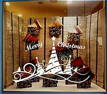 97 cm Weihnachtsbaum & Band Shop Show Fenster Art Wand Dekoration Aufkleber, rose, Wall / Inside Glass for Inside