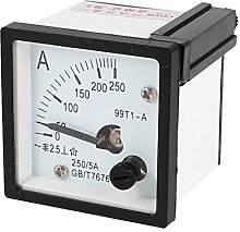 99T1quadratisch Panel Mount beweglichen Wetterfahne 0–250A AC Analog Amperemeter 48mmx48mm