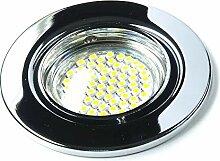 9er Set 230Volt LED SMD Einbaustrahler Alva. Spot